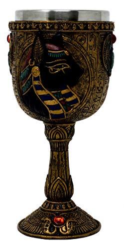 Cáliz egipcio, diseño de diosa de gato Egipto