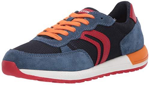 Geox Herren J ALBEN Boy D Sneaker, Blau (Avio/Red C4327), 39 EU