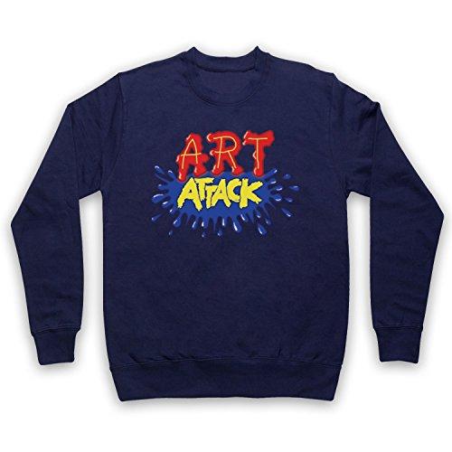 My Icon Art & Clothing Art Attack Kids TV Logo Buchanon Disfraz Sudadera Adulto azul oscuro M