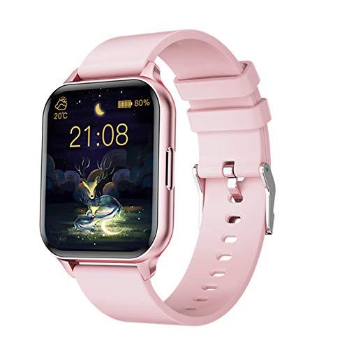 Ny Q26 Smart Watch Men Kvinnor Full Touch Fitness Tracker Blodtryck Hjärtfrekvens Monitor SmartWatch för Android IOS,b