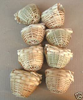 Mcage Finch Bird Bamboo Covered Bird Nest Lot of 8 - Small