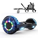 COLORWAY Hoverboard 6.5 Pouces, Gyropode Tout-Terrain 700W, avec Roues LED Flash, Haut-Parleur Bluetooth et LED, Scooter Électrique Auto-équilibrage