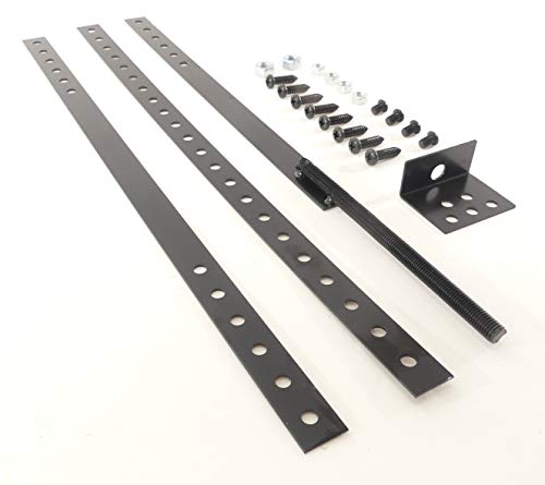 Gate Brace Kit, Restore Sagging Gates, Reinforce New Gates, Cross Brace, Simple DIY Project, 100% Steel Construction, for Wood Gates, Picket Fence Gates, Hardware Included, by Tech Team