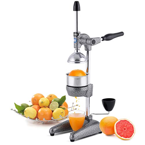 Tribest Pro MJP-100 Professional Manual Juice Cold Press Juicer for Citrus, One-Size, Grey