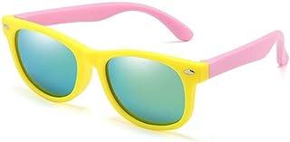QPRER - Gafas De Sol,Amarillo Rosa Acogedor Gradiente Espejo Clásico Niña IR De Compras Calle Gafas De Sol Verano Niños Diario Al Aire Libre Gafas Niño Playa Fiesta UV Cumpleaños Regalo del Día del