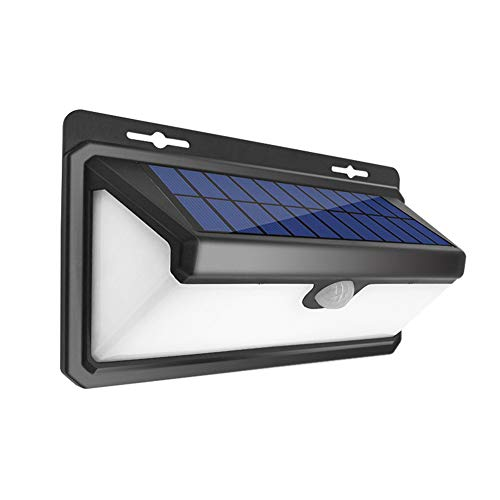GyfHMY 2-delige set 100LED Solar Wireless Lights, buitenbewegingssensor-wandlamp, IP65-waterdicht, 270-graden groothoekverlichting voor garagetuin oprit