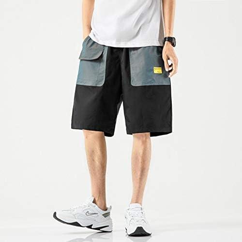JiuRui Leisure Shorts 2020 New Streetwear Summer Men Casual Shorts Fashion Pocket Mens Beach Shorts Cargo Knee-Length Short Pants for Men (Color : Color A, Size : Chinese Size 5XL)