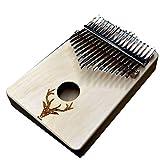 17 Pouce Clé Piano Kalimba Modèle Elk, Avec Tuning Marteau Sac de rangement chiffon de nettoyage d'enseignement vidéo deer
