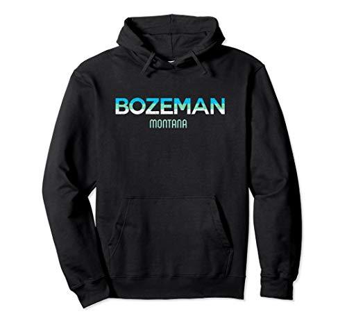 Bozeman Montana Vintage Retro Gift Pullover Hoodie