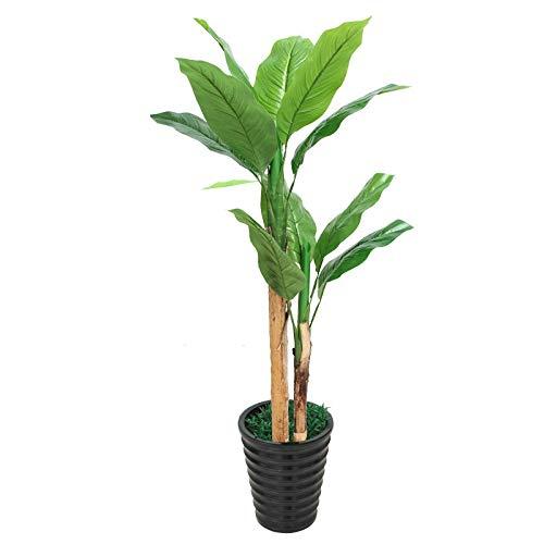 HONIC Gefälschte Vermögen Baum große Platane künstliche Pflanzen steuern Dekoration Bonsai Plastikblumen Kunstpflanzen mit Topf: 2.5m mit Topf