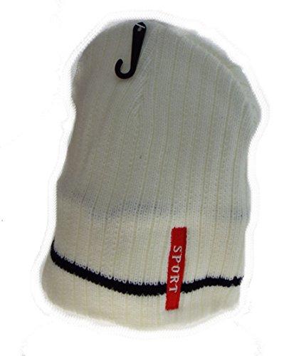 1 Bonnet Sport doublé Polaire, Mixte Homme, Femme, Adolescent, Taille Unique. Blanc