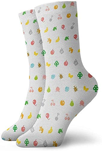 ORANGEW Animal Crossing Hhd Pattern Casual Crew Socks Funny Novelty Ankle Socks Winter Socks for Men and Women - One Size Fits Most