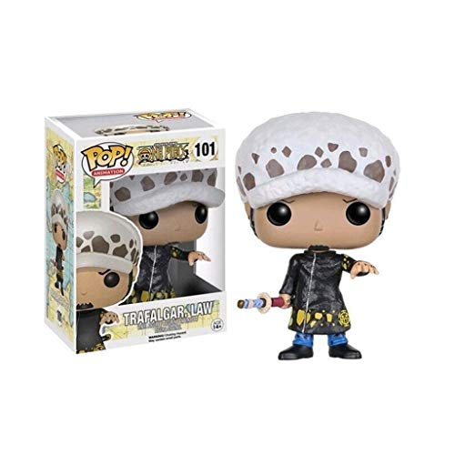 Luzk7DZ Trafalgar Law Figura Pop Figura da Anime One Piece Model Toy Regalo for Adolescenti