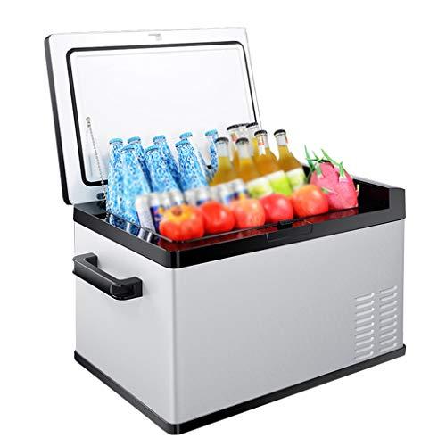 Draagbare compressor koelkast met grote capaciteit, stille mini-koelkast met vriesvak voor rijden, reizen, vissen, buitengebruik -12/24 V DC