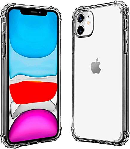 LG Snow Schutzhülle für iPhone 11, transparent, vier Ecken des Stoßschutzes, weiches kratzfestes TPU-Cover für iPhone 6.1 27,9 cm (11 Zoll).
