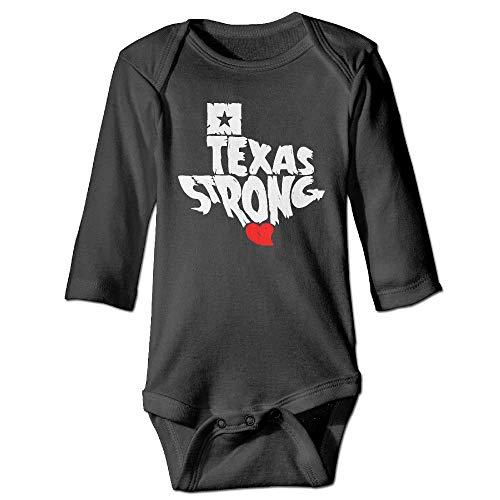 SDGSS Texas Strong - Body para bebé (Unisex, Manga Larga, Cuello Triangular, 6-24 m) Negro 24 Meses