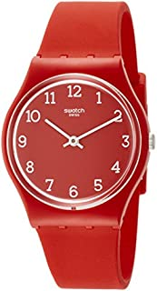 Swatch Originals Sunetty Red Dial Silicone Strap Unisex Watch GR175