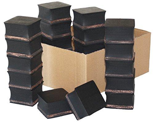 Gummiauflage 50x50x23mm (Karton 30 Stück) Gummi-Unterlage Auflage Wagen-Heber Hebebühne eckig Auto Klotz Rangier-Wagenheber Puffer Reifen Reifenwechsel LKW Räder KFZ Tuning Zubehör