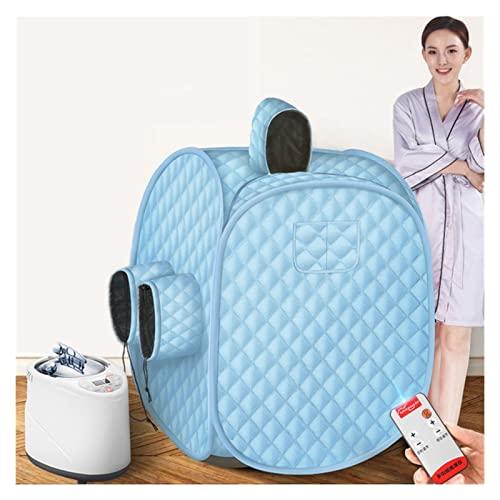 AWSAD Sala de SPA Sauna Portátil Beneficioso Adelgazamiento Cuerpo Completo Terapia Desintoxicación Plegable Casera Bañera de Cabina Sauna Humeante, Varios Estilos (Color : Blue, Size : Full)