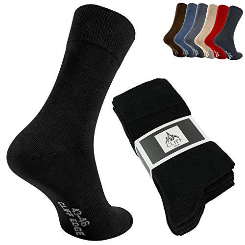 Cliff Edge atmungsaktive PREMIUM Business-Socken Herrensocken kein Schwitzen dank Bester Qualität (43-46, Schwarz - 10 Paar)