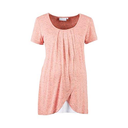 2HEARTS Le T-Shirt de Grossesse et d'allaitement 2 en 1 T-Shirt de Grossesse T-Shirt de Grossesse, Rose Bubbles