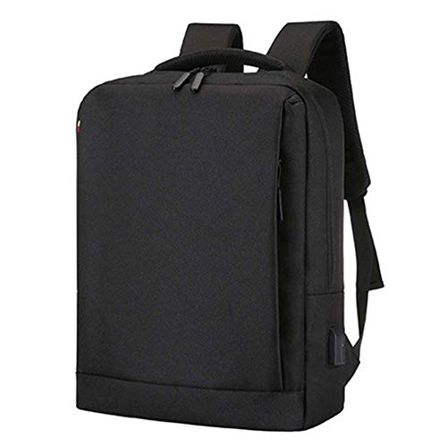 LISRUI Unisex Waterproof Computer Backpack, Computer Backpack, Lightweight and Packable, College Business Rucksack – 41 x 30 x 13 cm Black