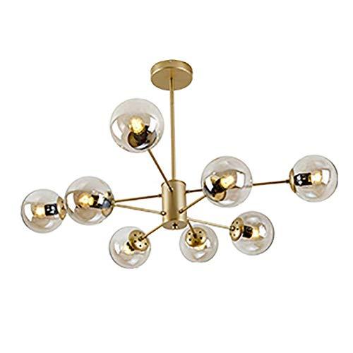 Nordic Sputnik Kronleuchter E27 Modernen Messing Zweig Pendelleuchte Glaskugel Industrie Molekül Pendellampe Befestigung Mit Glas Lampenschirm-Golden. 8 Licht