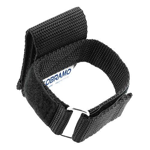OBRAMO Handschuhhalter Polizei Security vertikale Trageweise, Lange Ausführung, Diensthandschuhe Koppel Gürtel Halterung