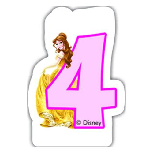 Disney Princesse et Animaux 4 Bougie d'anniversaire