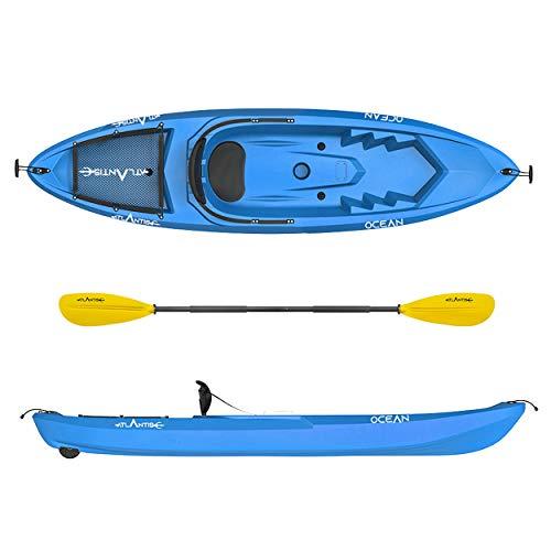 ATLANTIS Kayak - Canoa Ocean Blu - schienalino + ruotino + pagaia