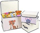 DIMJ Juego de 3 cajas de almacenamiento de tela para ropa de...