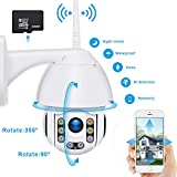 Security Camera Outdoor Wireless 1080P HD PTZ IP Dome Camera Night Vision Waterproof