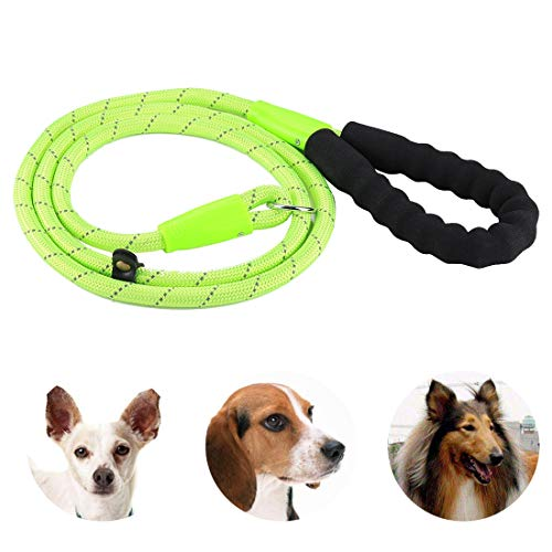 Tuzi Qiuge Rutsch-Blei-Hundeleine, Haustierhundtraining Traktionsseil Reflektierende Lichteleine mit Fetter Griff