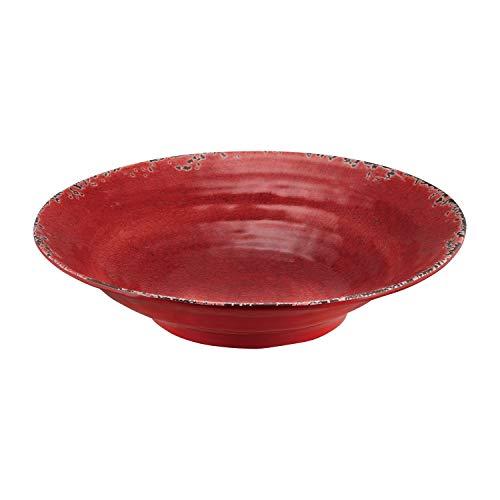 Supreme Housewares Gourmet Art Melamine 16 Inch Serving Bowl, 1, Large, Crackle, Red