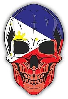 JJH Inc Skull Flag Philippines Vinyl Decal Sticker Waterproof Car Decal Bumper Sticker 5