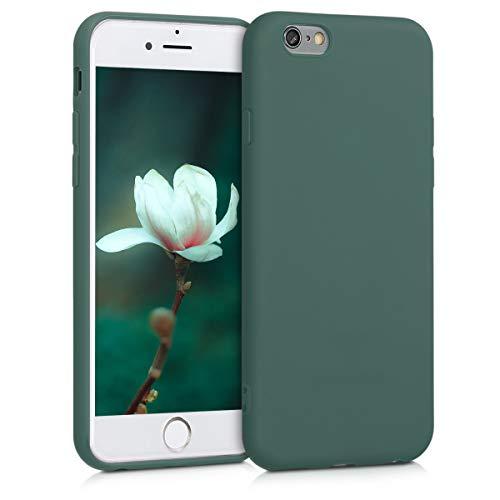 kwmobile Coque Compatible avec Apple iPhone 6 / 6S - Coque Housse Protectrice pour Téléphone en Silicone Bleu Vert