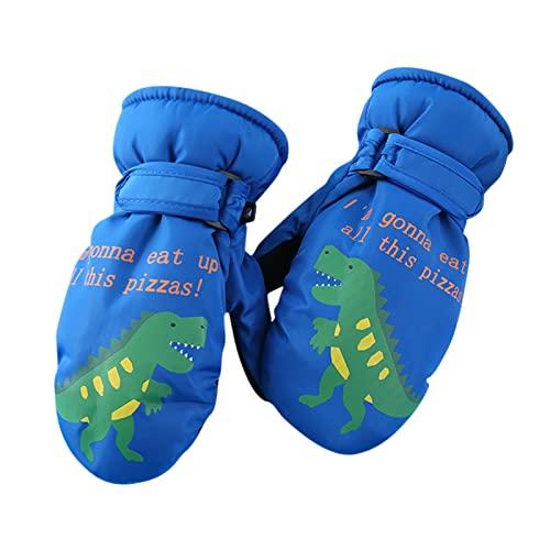 Guanti da sci per bambini, impermeabili e antivento: guanti caldi da neve, guanti invernali per bambini da 5 a 10 anni, per ragazzi, ragazze, sci, escursionismo, ciclismo