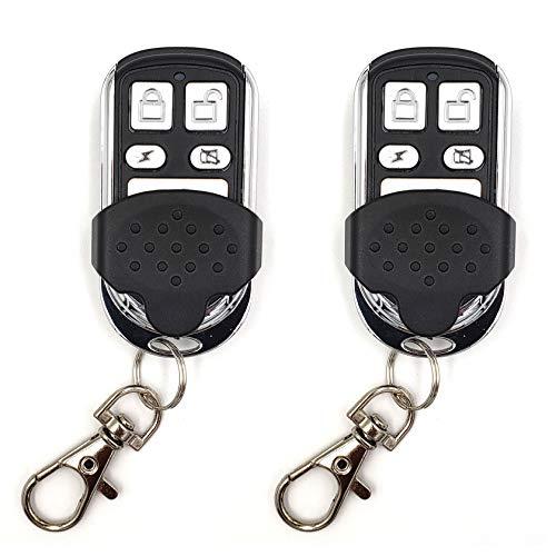 2 Stück - Garagentor Handsender Kompatibel mit Hörmann Hs1 | Hs2 | Hs4 | Hsm2 | Hsm4 | Hse2 | Hsz1 | Hsz2 | Hsp4 | Hsp4-C | Hsd2-A | Hsd2-C, Frequenz: 868,3 MHz