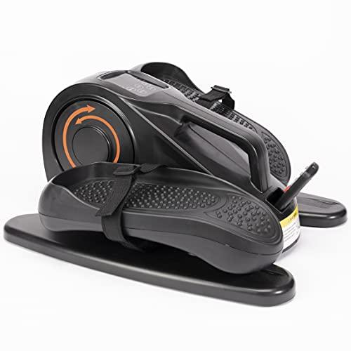 3pcs Bajo ciclo de escritorio,Mini ejercitador de pedales para interiores con monitor de pantalla integrado,Entrenador de máquina eléctrica silencioso y compacto para ejercicios de resistencia,Negro