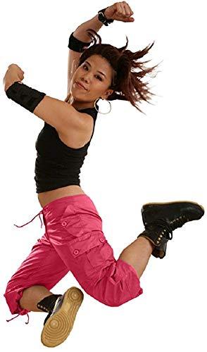 UFO Jeans Damen Hose mit Kordelzug L hot pink