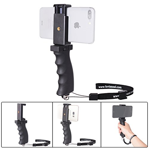 Fantaseal Ergonomic Cell Phone Smartphone Holder, Phone Selfie Stick Hand Grip Stabilizer Handheld Mount Phone Handle Support Steadycam Compatible with iPhone Xs X Nexus LG HTC Samsung etc