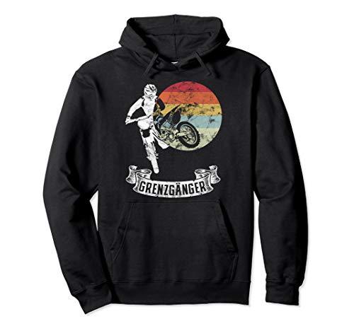 Grenzgänger Vintage Motocross Biker Club Motorrad Pullover Hoodie