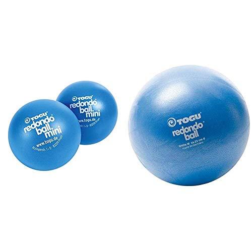 Togu Redondo Mini 2er-Set (Das Original) & Redondo Ball 22 cm Gymnastikball Pilatesball, blau