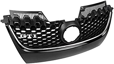 ZMAUTOPARTS For VW GTI Gli Jetta MK5 Front Main Hex Mesh Bumper Center Grille Chrome Strip