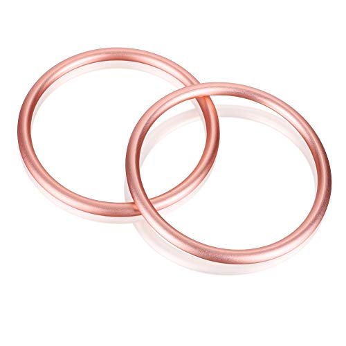 Accmor Baby Sling Ring 3 inch Aluminium Wrap Rings Soft Carrier Ring Accessory for Infants Toddlers Newborn Kids, Works with Your Own Material or Convert Wrap to Sling (Rose Gold)