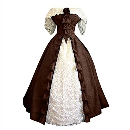 Vestido sin tirantes de encaje sin tirantes para mujer, estilo de corte sólido, sin mangas, estilo gótico, vintage