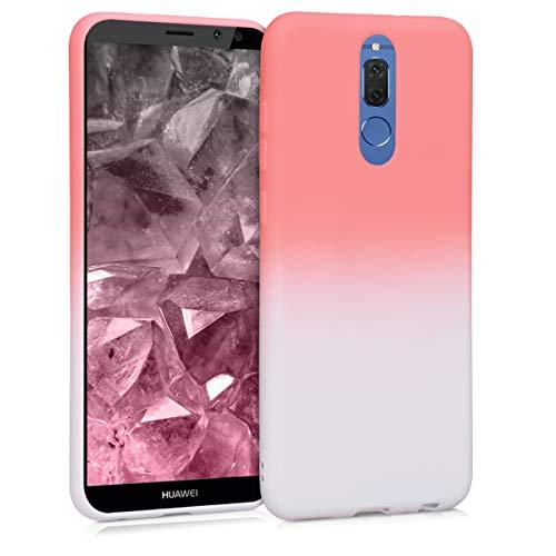 kwmobile Huawei Mate 10 Lite Hülle - Handyhülle für Huawei Mate 10 Lite - Handy Case in Zwei Farben Design Rosa Weiß