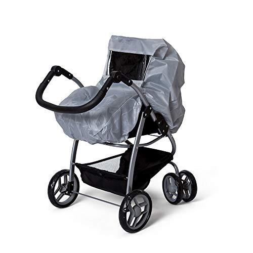 Mini Mommy Regenschutz für Puppenwagen grau