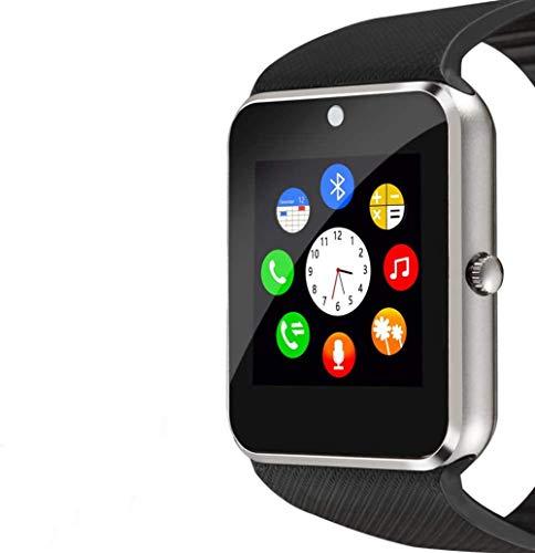 ASDASD Reloj Inteligente Pantalla táctil Reloj Deportivo Teléfono para Android iOS Podómetro Reloj Inteligente con Ranura para Tarjeta SIM Compatible con cámara Samsung Hombres Mujeres
