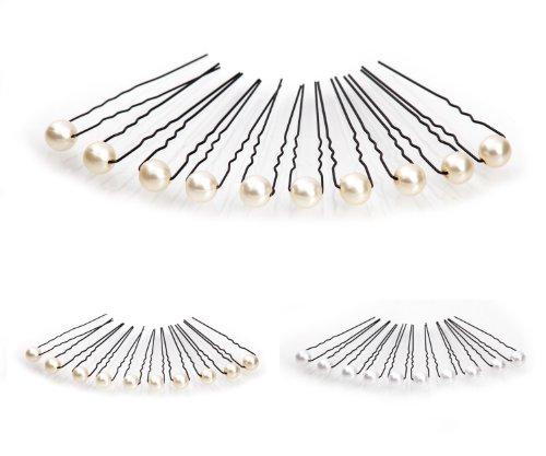 10 x Perlen Haarnadeln - Brauthaarschmuck, Haarschmuck, Perlenhaarnadel | 10PS-Beige
